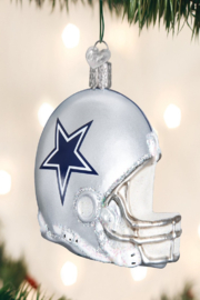 Old World Christmas Dallas Cowboys Helmet Ornament - Front cropped