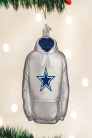 Old World Christmas Dallas Cowboys Jersey Ornament - Front cropped
