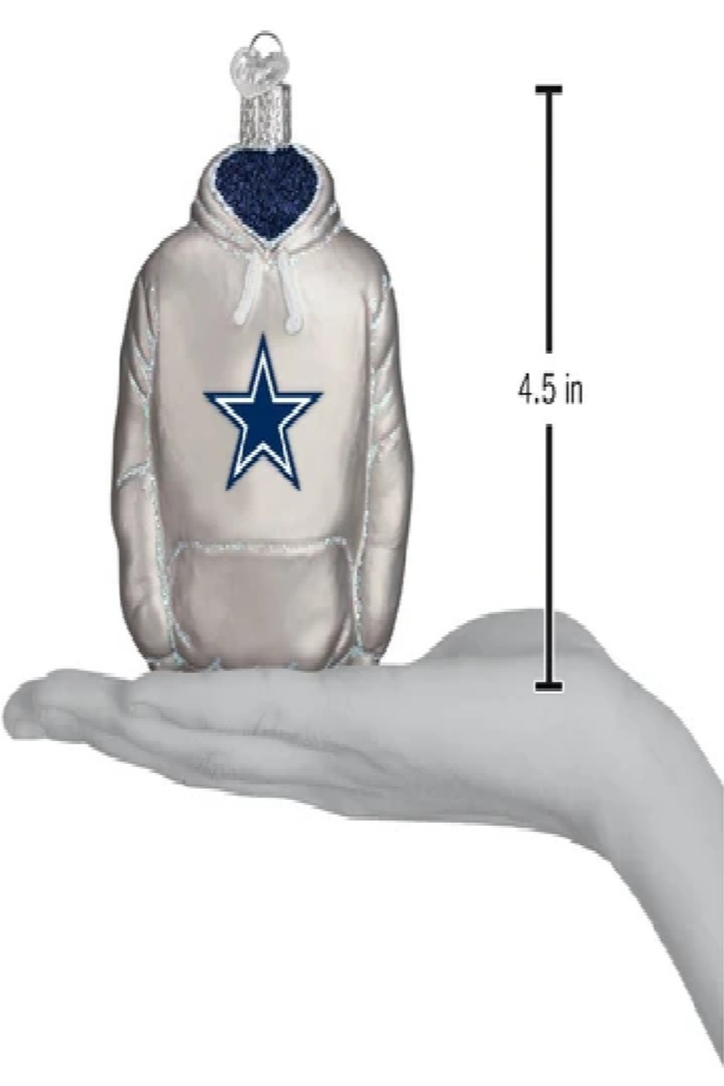 Old World Christmas Dallas Cowboys Jersey Ornament - Front Full Image