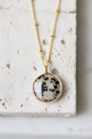 Mesa Blue Dalmatian Jasper Coin Necklace - Product Mini Image
