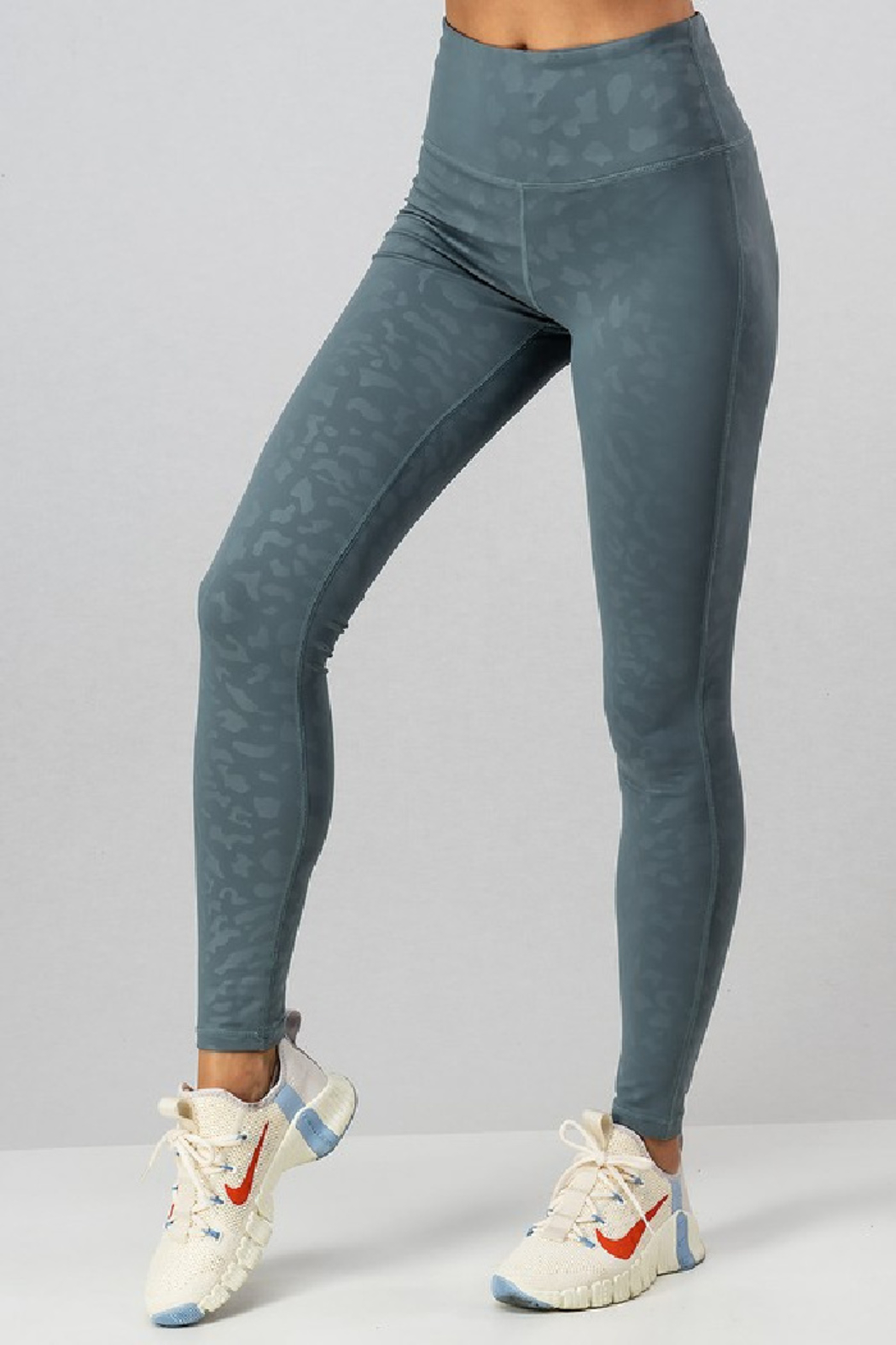 Urban Daizy Damask Leopard Legging - Front Cropped Image