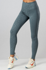 Urban Daizy Damask Leopard Legging - Front cropped