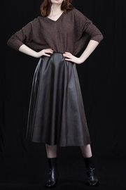 Dame Blanche Anvers Faux Leather Skirt - Front cropped