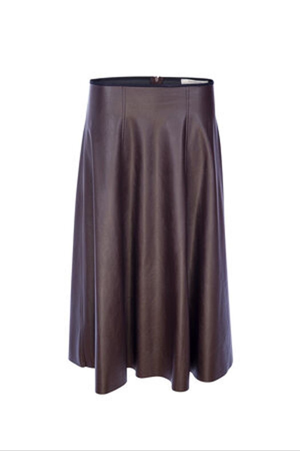Dame Blanche Anvers Faux Leather Skirt - Front Full Image