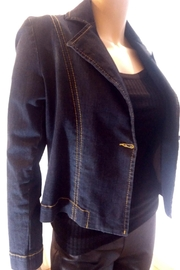 Dame Blanche Anvers Feminine Denim Jacket - Front full body