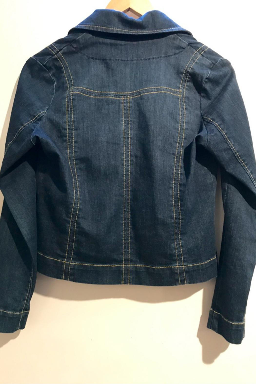 Dame Blanche Anvers Feminine Denim Jacket - Back Cropped Image