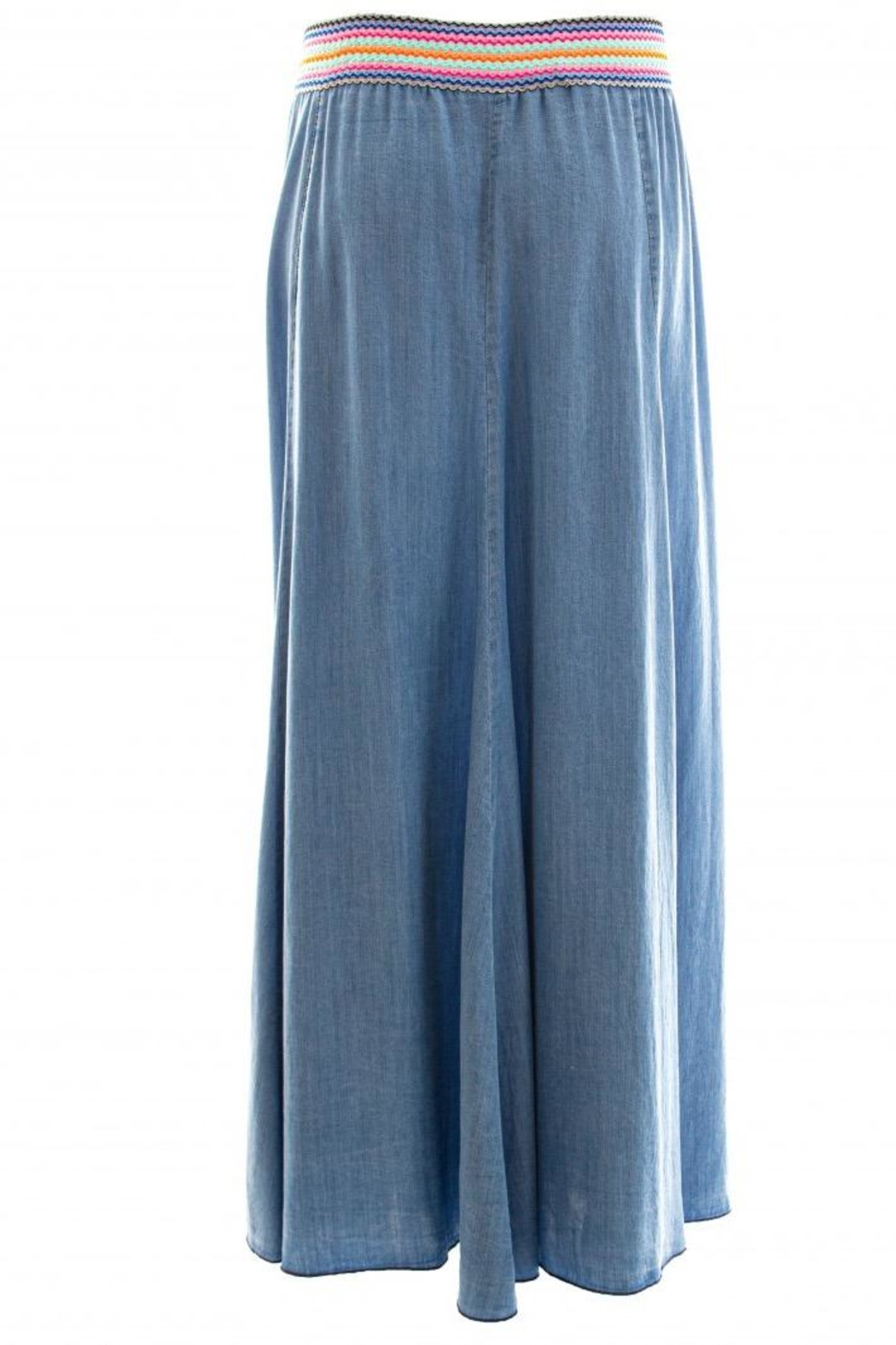 Dame Blanche Anvers Long Denim Skirt - Side Cropped Image