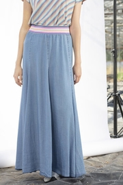 Dame Blanche Anvers Long Denim Skirt - Front cropped