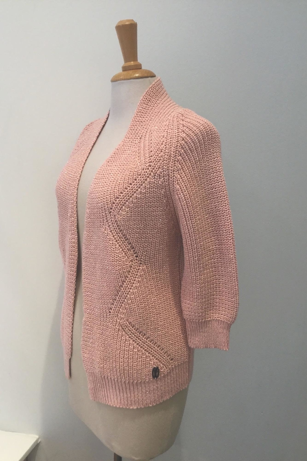 Dame Blanche Anvers Sweet Pink Cardigan - Side Cropped Image