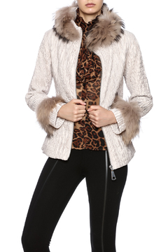 Dana Stein Quilted Jacquard Jacket - Product List Image