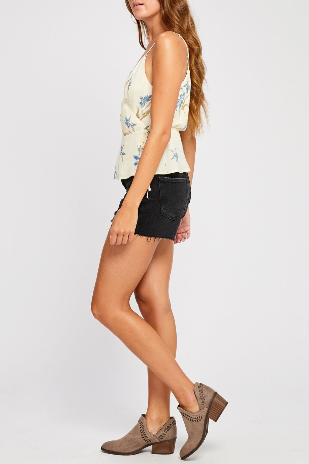 Gentle Fawn Dana Wrap Top - Side Cropped Image