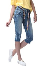 Shoptiques Product: 80s Peace Jeanse - Front cropped