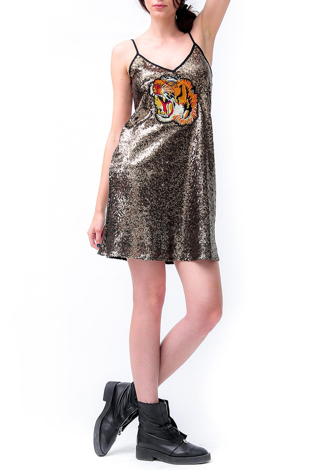 Dana Ashkenazi Sequin Dress Tiger - Front Cropped Image