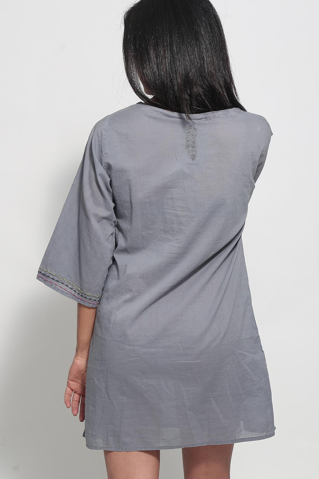 Dana Ashkenazi Short Fable  Grey Dress - Side Cropped Image