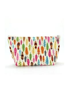 Shoptiques Product: Feathers Cosmetic Bag
