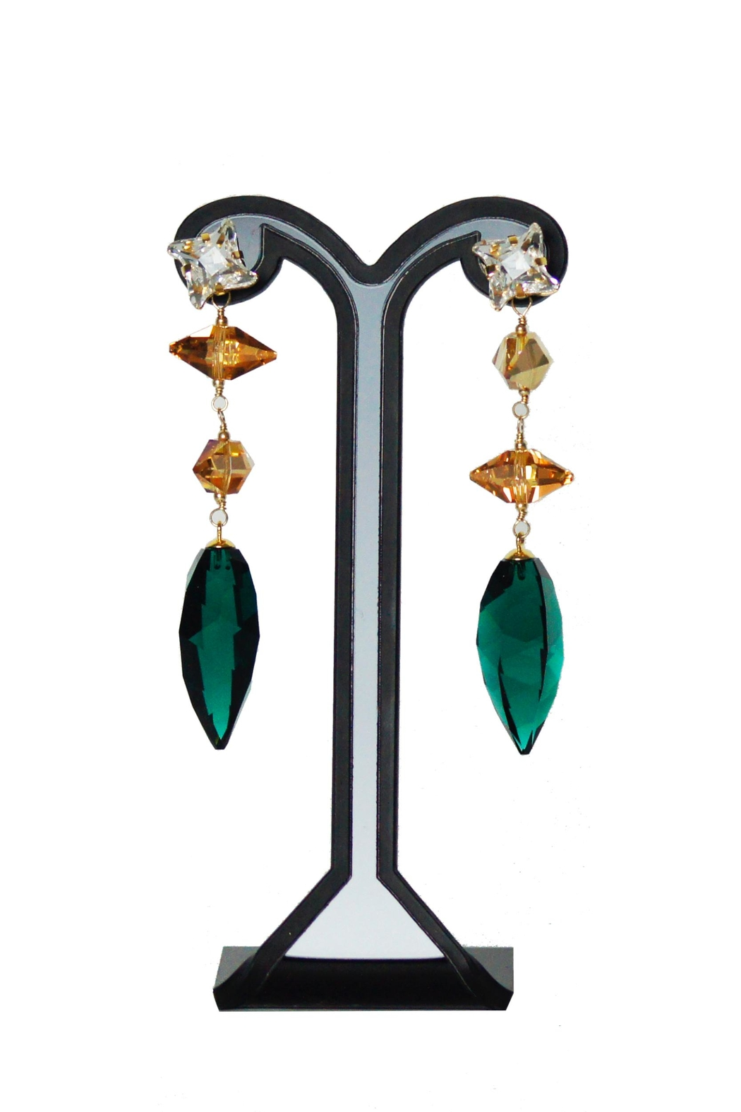 Dana Ponticiello Emerald Swarovski Earrings - Main Image