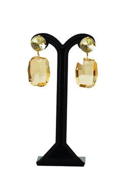 Shoptiques Product: Golden Swarovski Earrings