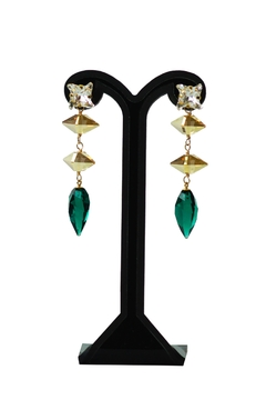 Shoptiques Product: Greenery Swarovski Earrings