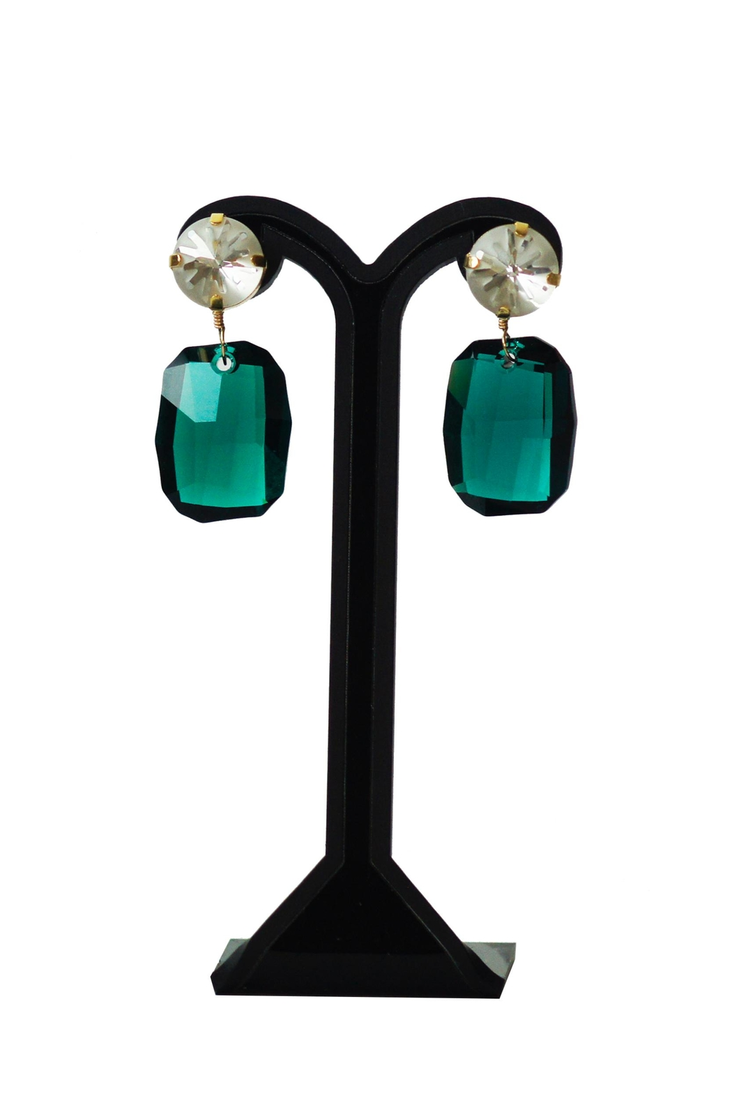 Dana Ponticiello Jade Swaorvski Earrings - Main Image