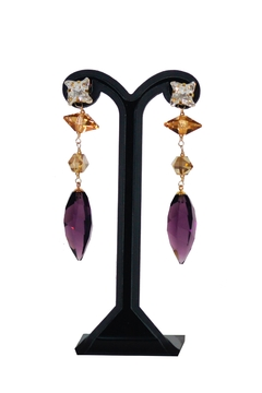 Shoptiques Product: Purple Swarovski Earrings