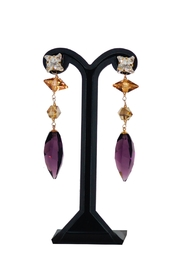 Dana Ponticiello Purple Swarovski Earrings - Product Mini Image
