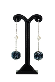 Dana Ponticiello Sphere Swarovski Earrings - Front cropped