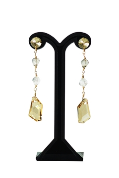 Shoptiques Product: Yellow Swarovski Earrings