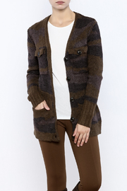 Dance & Marvel Camo Cardigan - Front cropped