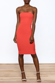 Dance & Marvel Coral Bodycon Dress - Front full body