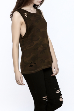 Shoptiques Product: Distressed Camo Tank
