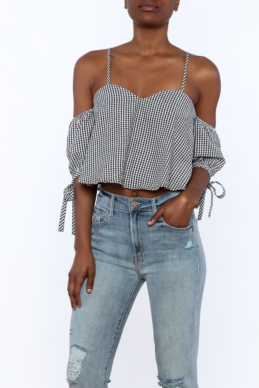 bf6c6edf1a3d Dance   Marvel Stripe Gingham Top from New York by Dor L Dor ...