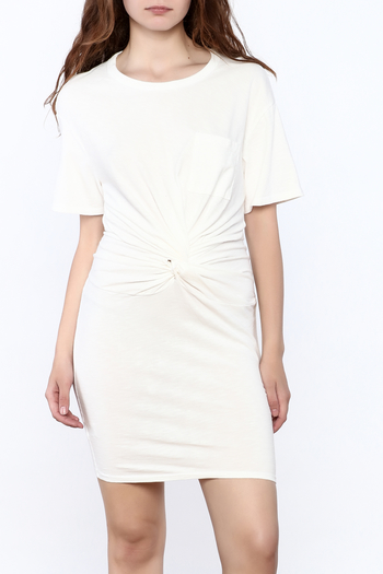 Dance & Marvel White Knotted Dress - Main Image