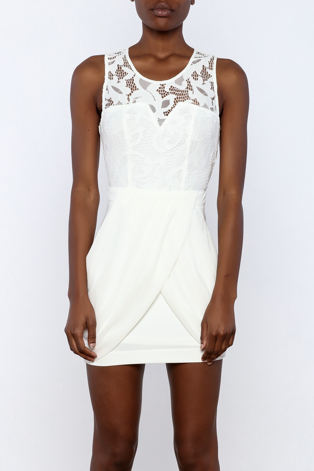 Dance & Marvel Lace Chiffon Dress - Side Cropped Image