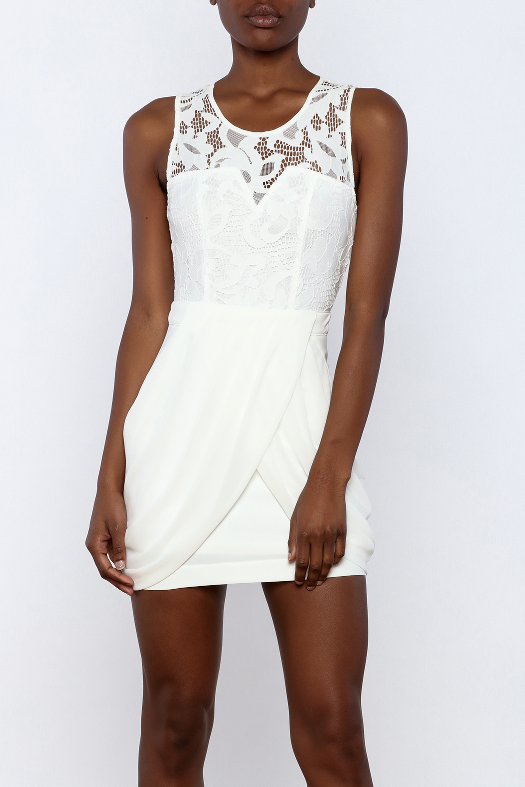 Dance & Marvel Lace Chiffon Dress - Main Image
