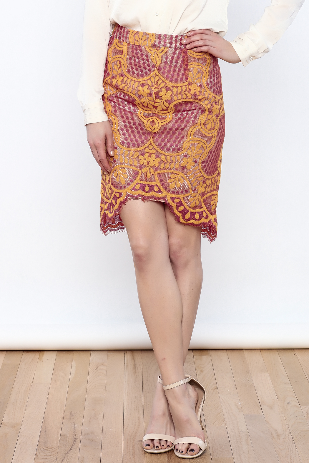 Dance & Marvel Lace Pencil Skirt - Main Image