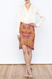 Dance & Marvel Lace Pencil Skirt - Front full body
