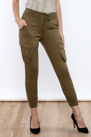 Dance & Marvel Lace Up Joggers - Front cropped