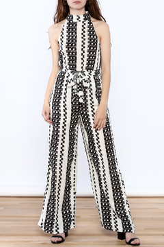 Shoptiques Product: Classy Printed Sleeveless Jumpsuit