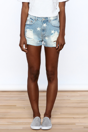 Dance & Marvel Star Printed Denim Shorts - Side cropped