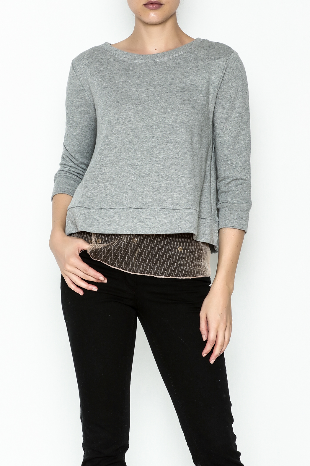 Dance and Marvel Lace Underlay Sweater - Main Image