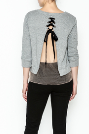 Dance and Marvel Lace Underlay Sweater - Back cropped