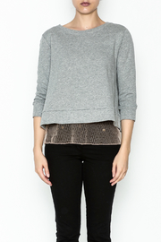 Dance and Marvel Lace Underlay Sweater - Front full body