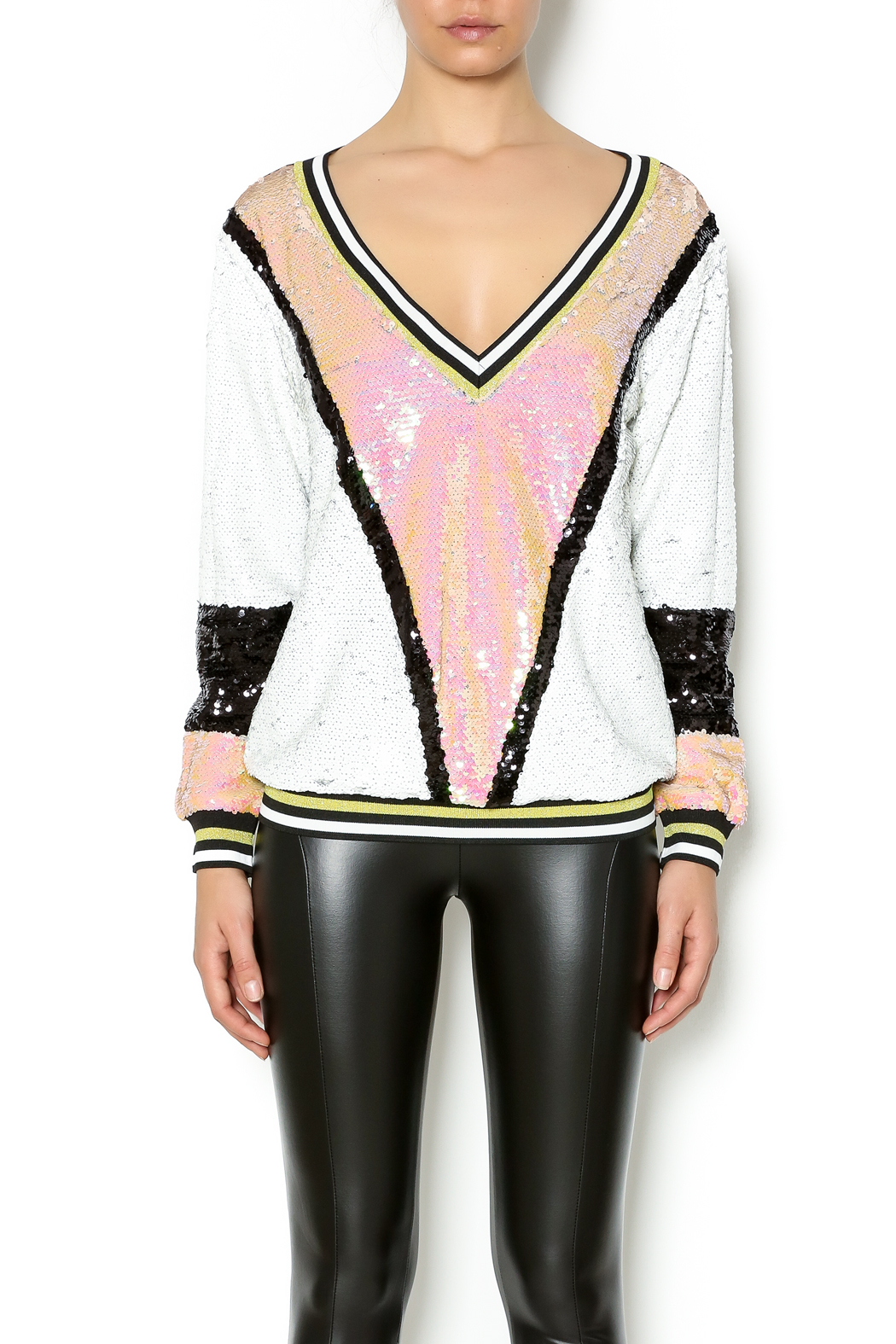 6798633da09a Dance   Marvel Sporty Sequin Top from New York by Dor L Dor — Shoptiques