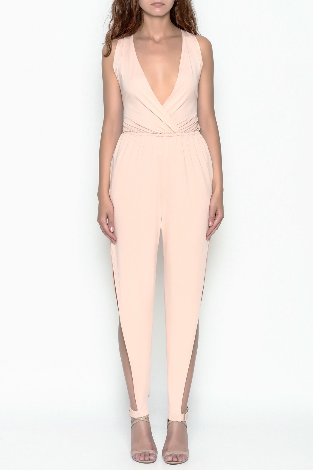 Dance and Marvel Strappy Jumpsuit - Front Cropped Image
