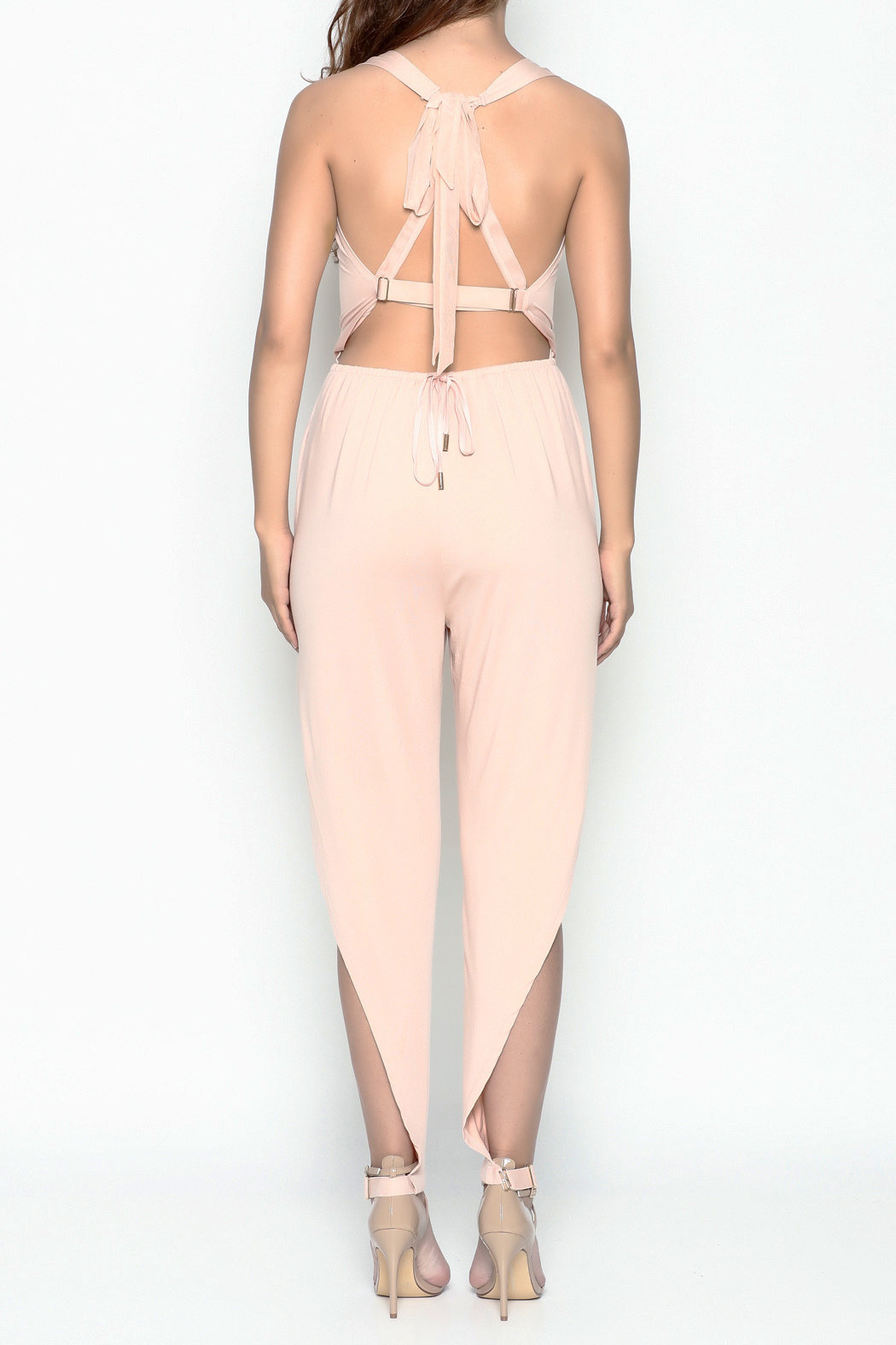 Dance and Marvel Strappy Jumpsuit - Back Cropped Image