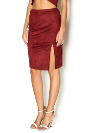 Dance & Marvel Suede Skirt - Front cropped