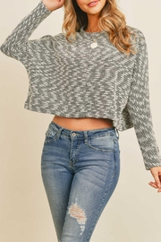 Dance & Marvel Black_ivory Knit Crop_top - Product Mini Image