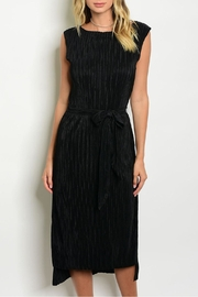 Dance & Marvel Black Pleated Dress - Front cropped
