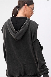 Dance & Marvel Cold Shoulder Hoodie - Side cropped
