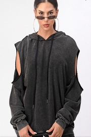Dance & Marvel Cold Shoulder Hoodie - Front cropped